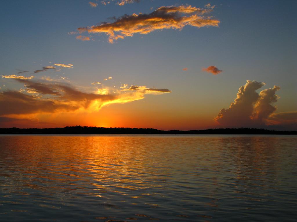 ten thousand islands national wildlife refuge, florida, sunset