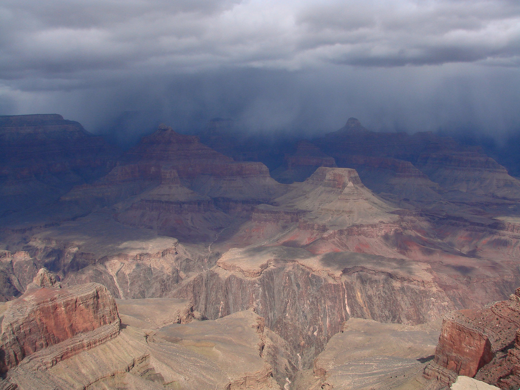 Grand Canyon, Canyon, Clouds