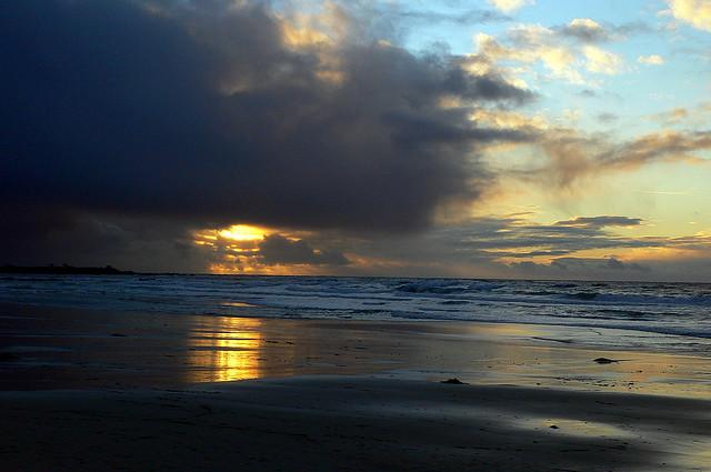 Asilomar State beach, beach, sunset, california