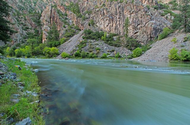 black canyon of the gunnison national park, colorado, river