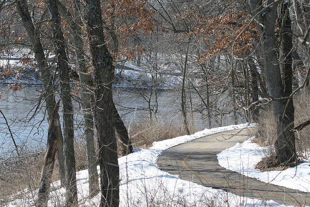 Blackhawk Springs Forest Preserve, Trail, Winter
