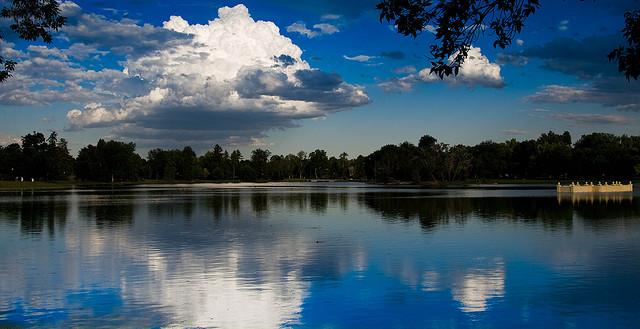 city park, city park denver, denver, denver colorado, lake, reflection