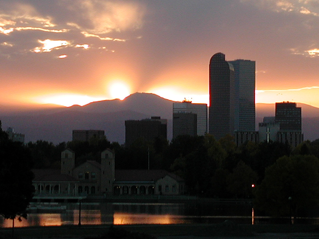City Park, City Park Denver, Denver Colorado, Skyline, Denver Sunset