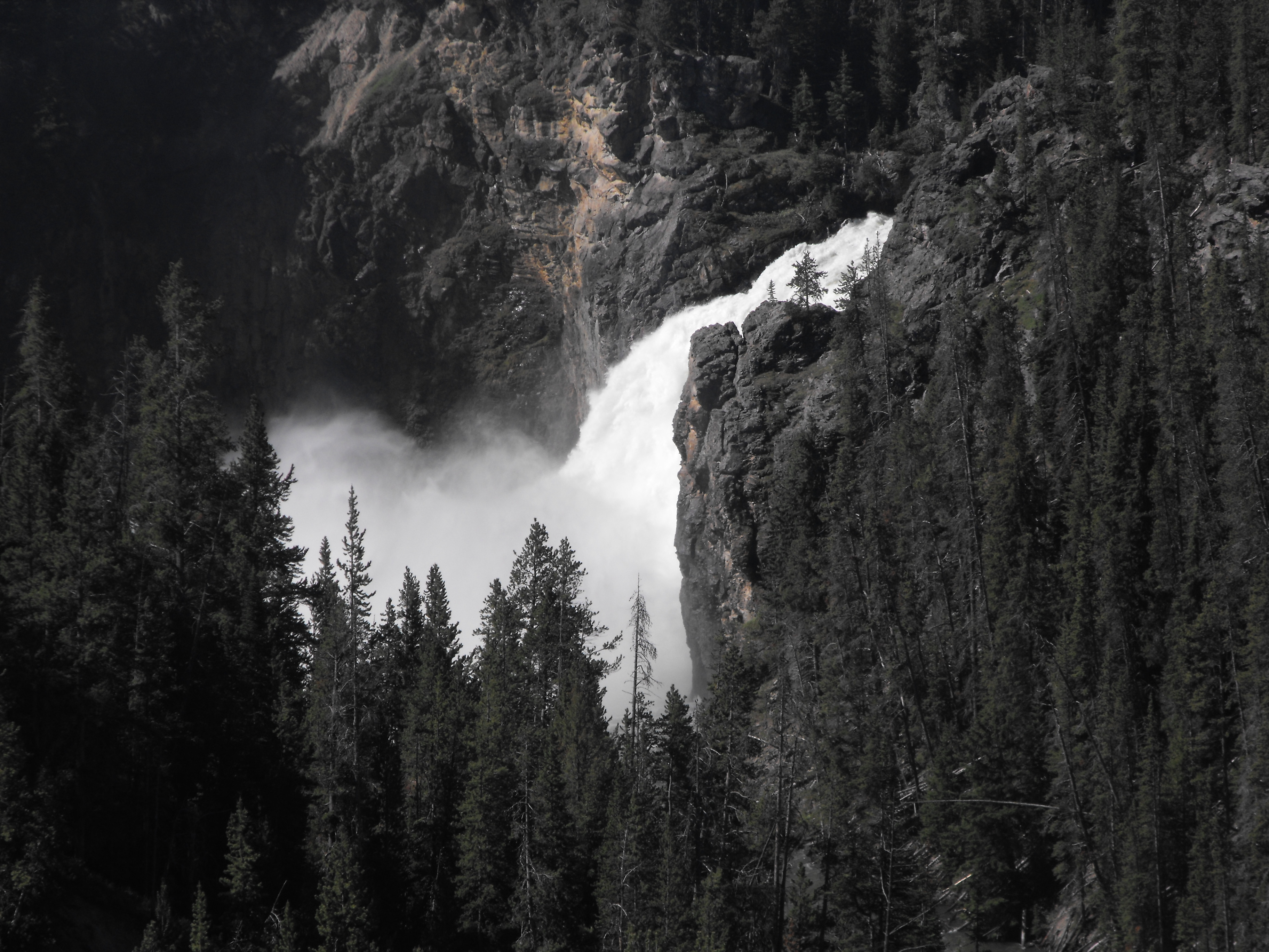 yellowstone, yellowstone national park, falls