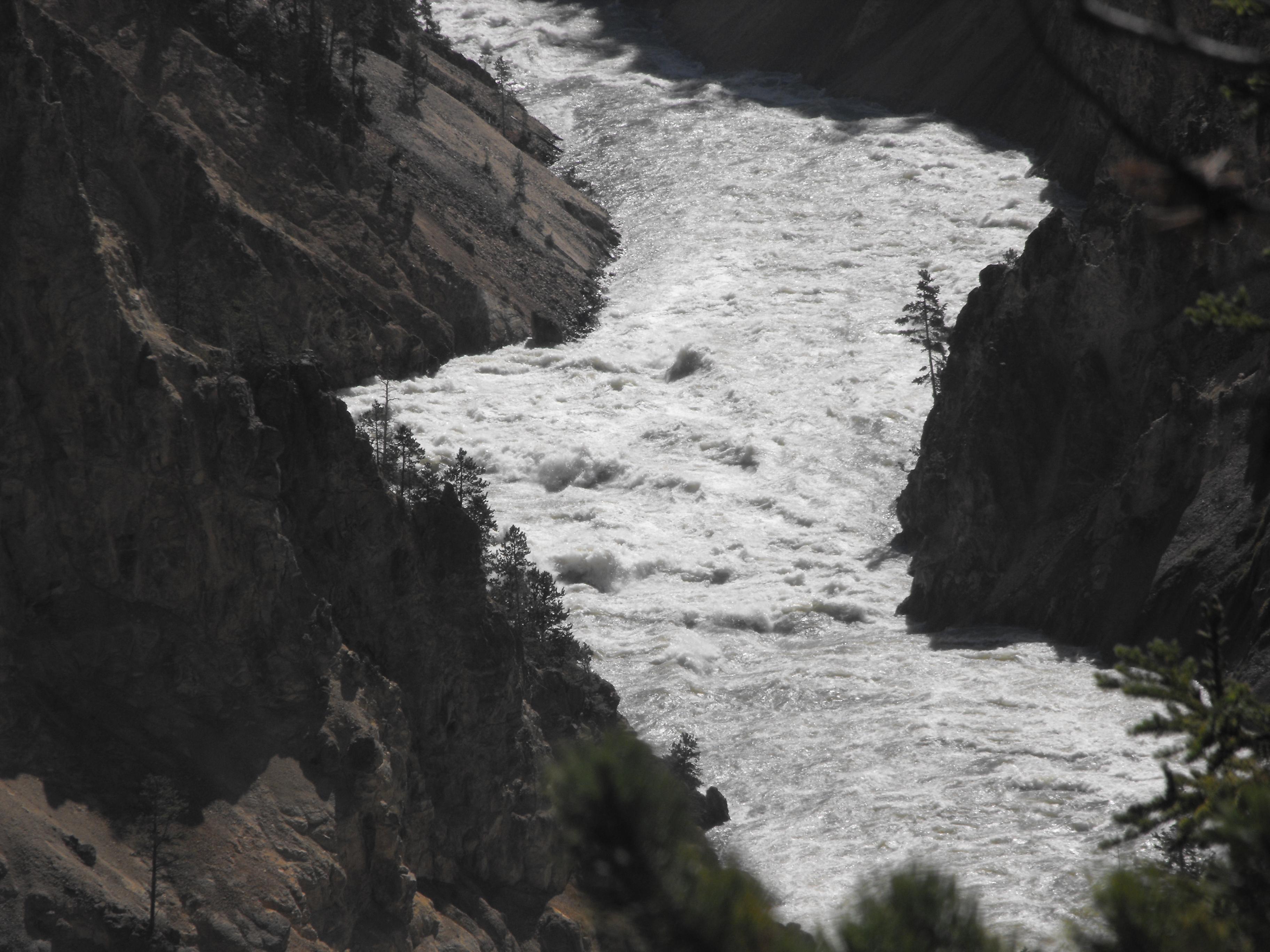 yellowstone, yellowstone national park, falls, waterfall, wyoming
