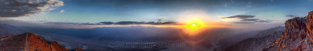 Death Valley, dante's view, california, sunrise