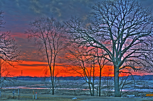 Deer Run Forest Preserve, winnebago county illinois, sunset