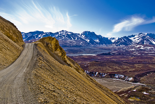 polychrome pass, denali national park, alaska, mountains