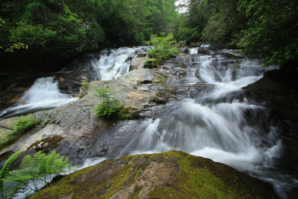 big creek lower falls, chattooga river, chattahoochee national forest, georgia