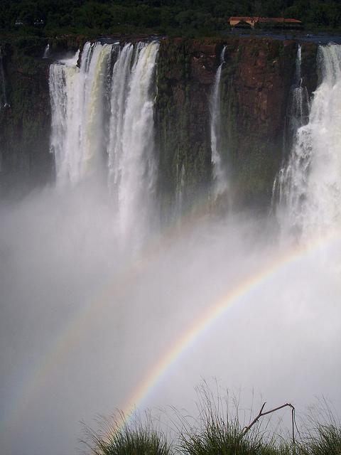 iguazu falls, rainbow, waterfall, argentina