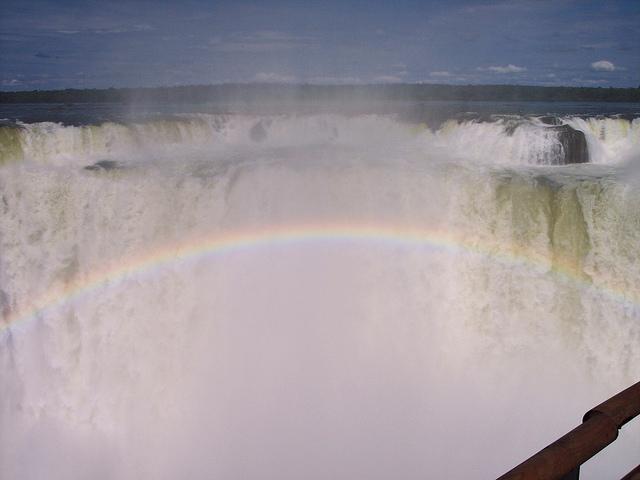 iguazu falls, waterfall, argentina, iguazu national park, rainbow