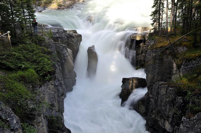 jasper national park, sunwapta falls, alberta, canada, waterfall