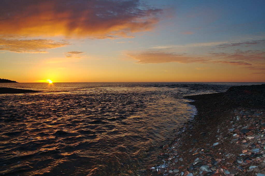 magney state park, minnesota, lake, sunset