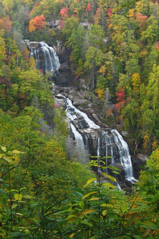 nantahala national forest, waterfall, north carolina