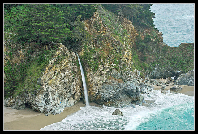 McWay falls, Julia Pfeiffer Burns State Park, California, waterfall