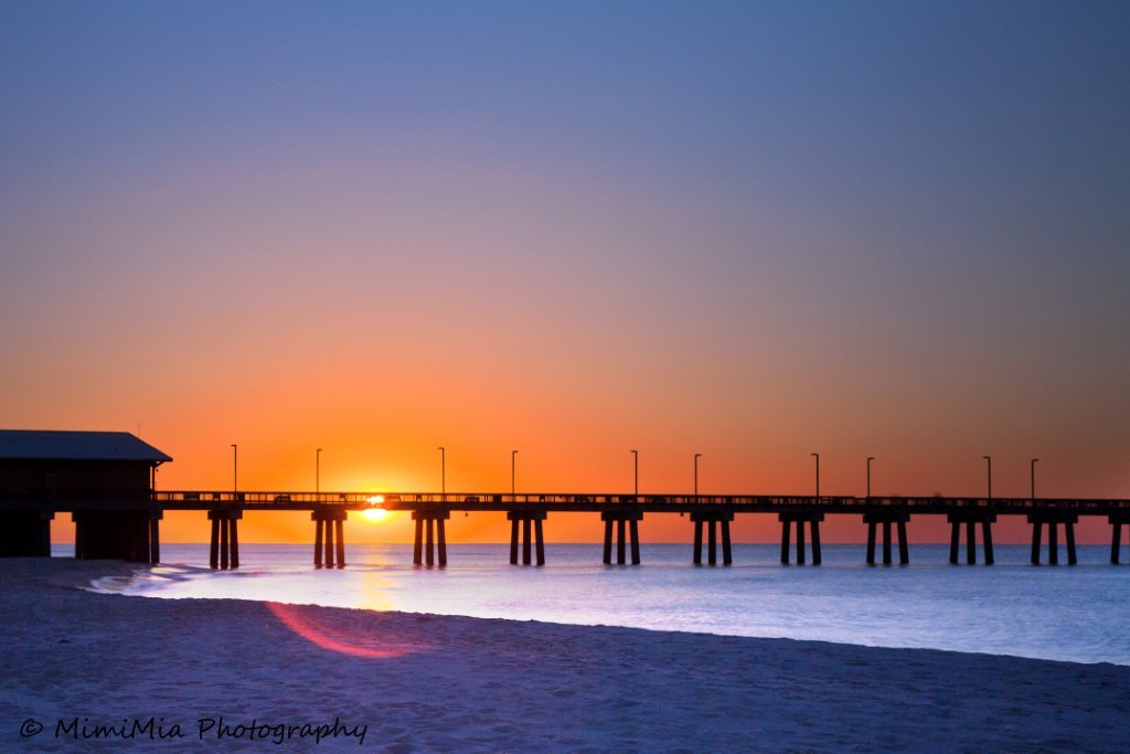 gulf state park, alabama, coast, beach, gulf of mexico, sunrise, dawn