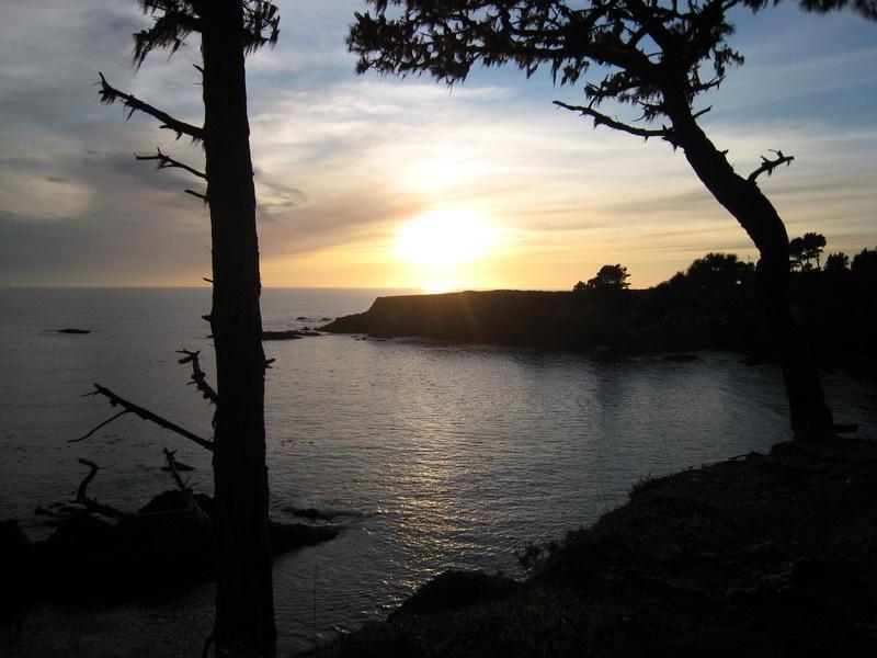 russian gulch state park, california, california coast, pacific ocean