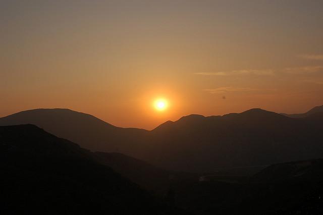 Sunset, Mountains, California, San Bernardino National Forest