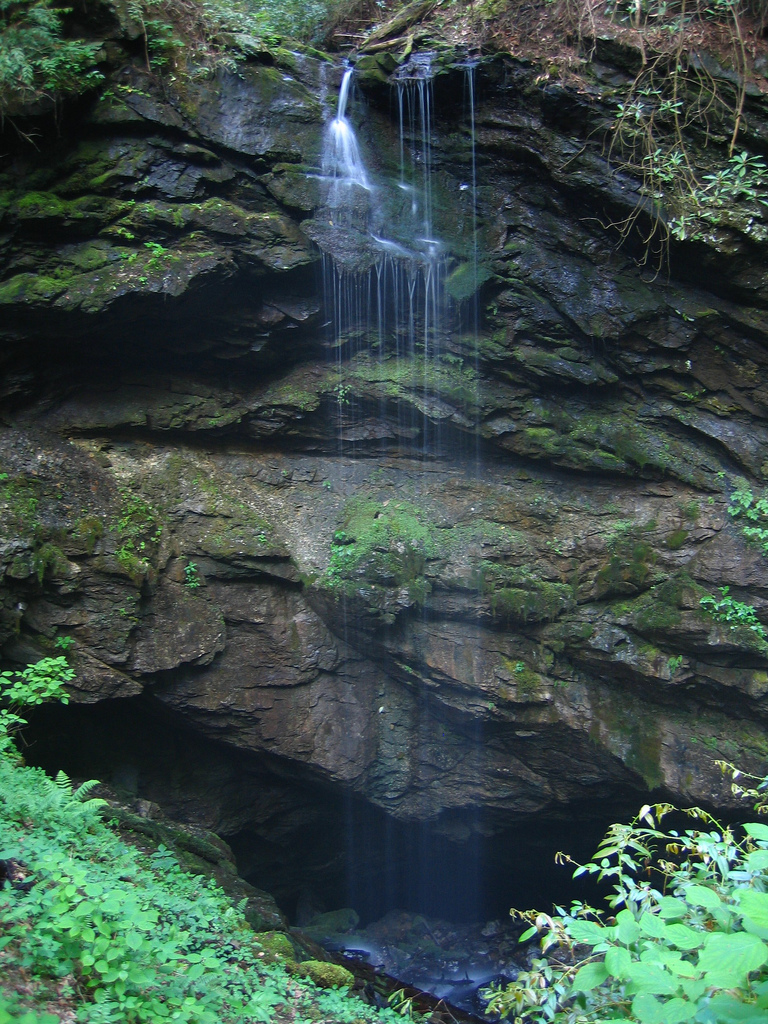 great smoky mountains national park, rainbow cave, waterfall