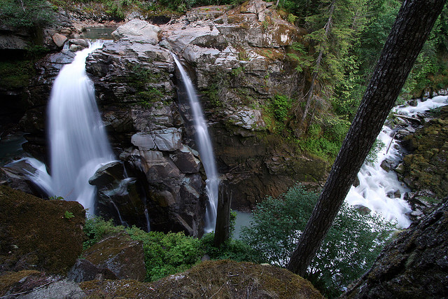 Nooksack Falls, Snoqualmie National Forest, Washington, Waterfall