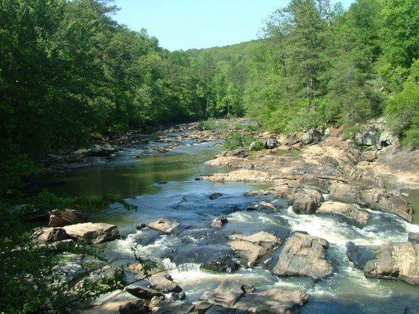 sweetwater creek, sweetwater creek state park, lithia springs georgia