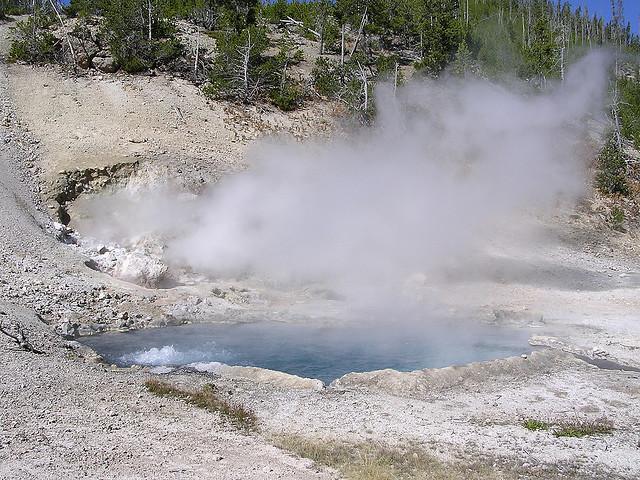 yellowstone, yellowstone national park, hot springs, wyoming