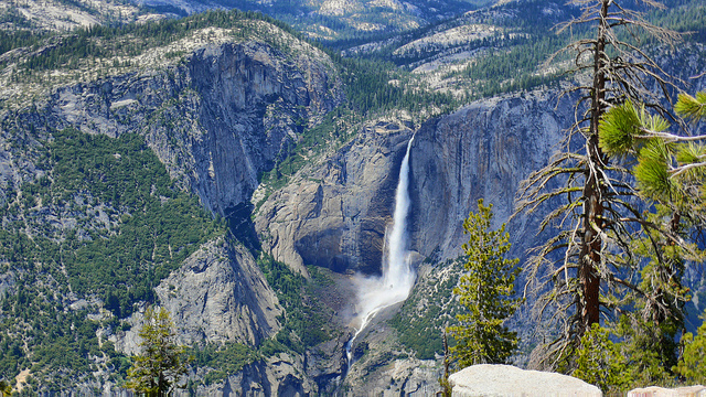Sentinel Dome, Yosemite National Park, Waterfall, Yosemite falls