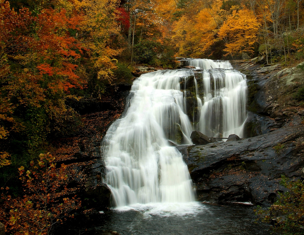 bald river falls, cherokee national forest, tennessee, waterfall, autumn