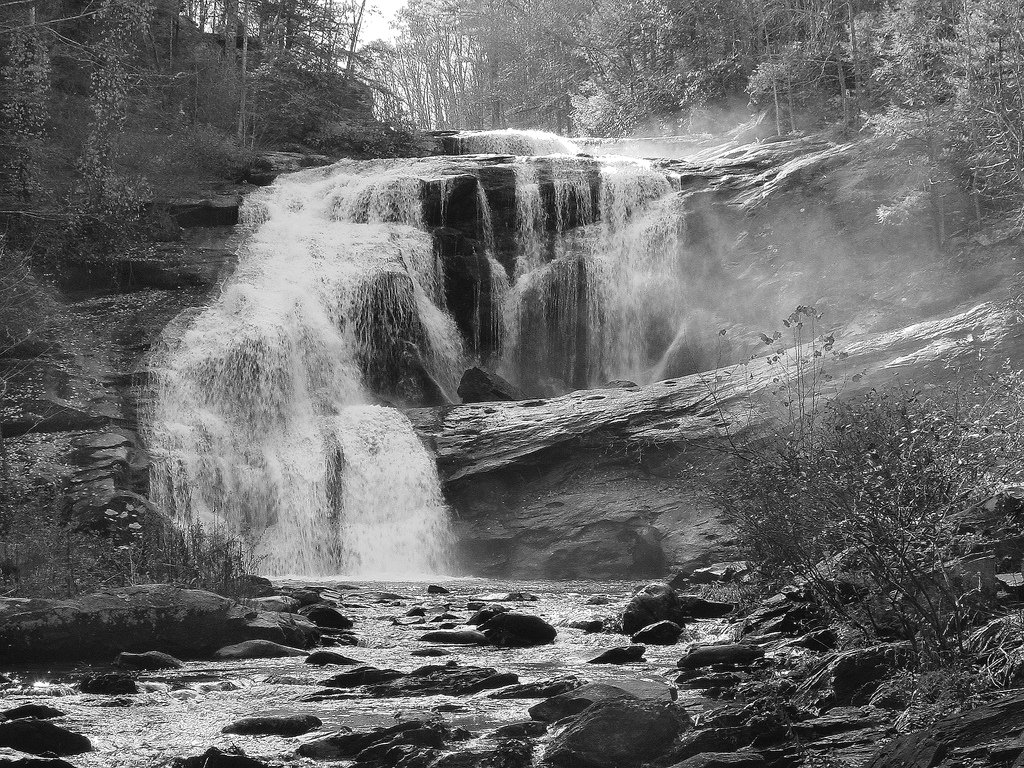 bald river falls, tennessee, cherokee national forest, waterfall