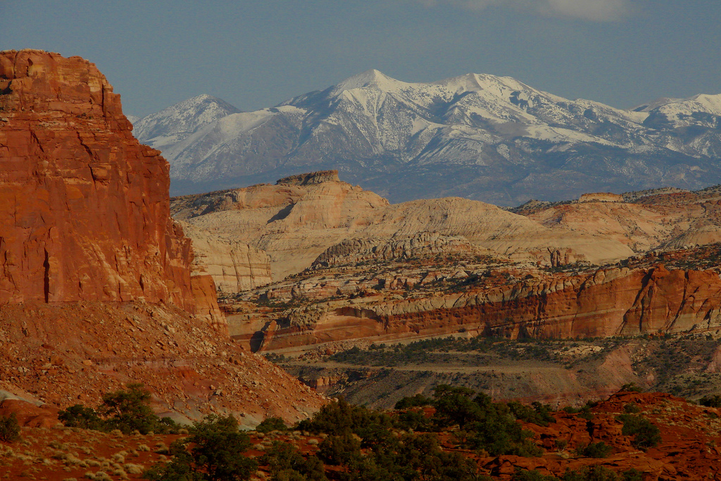 henry mountains, capitol reef national park, utah, desert, capitol reef