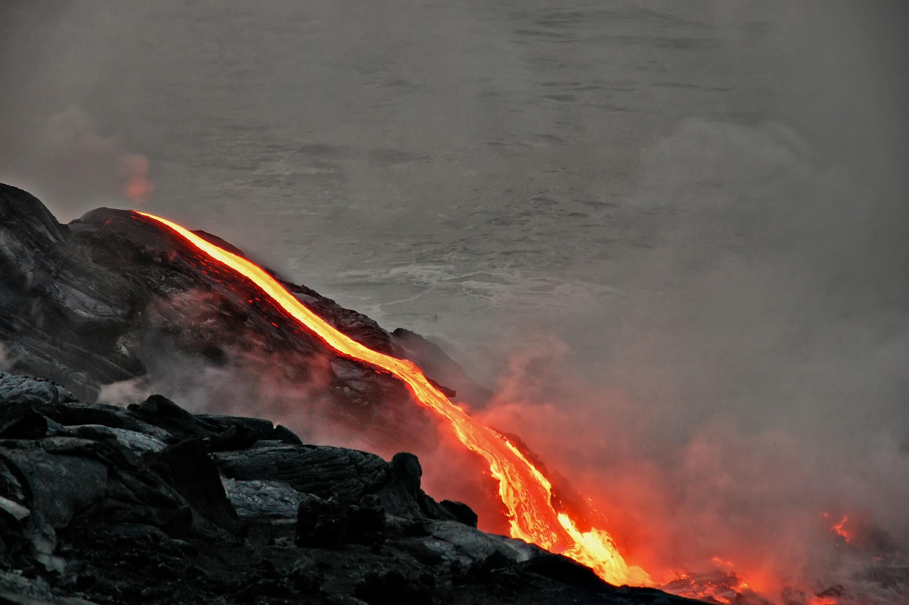 volcanoes national park, hawaii, volcano, lava flow, lava