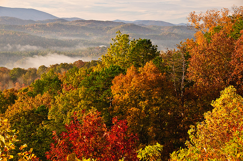 great smoky mountains national park, autumn