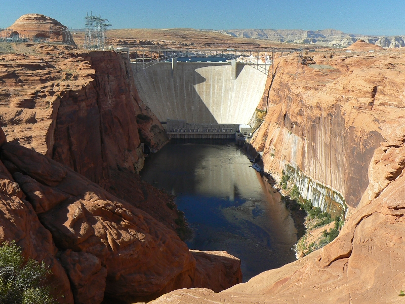 glen canyon, glen canyon national recreation area, utah, canyon, dam
