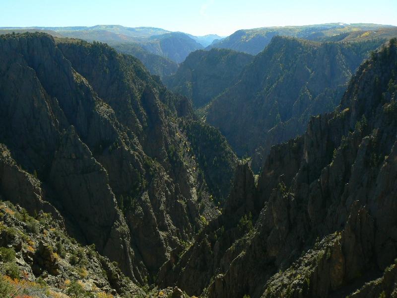 black canyon of the gunnison national park, canyon, colorado