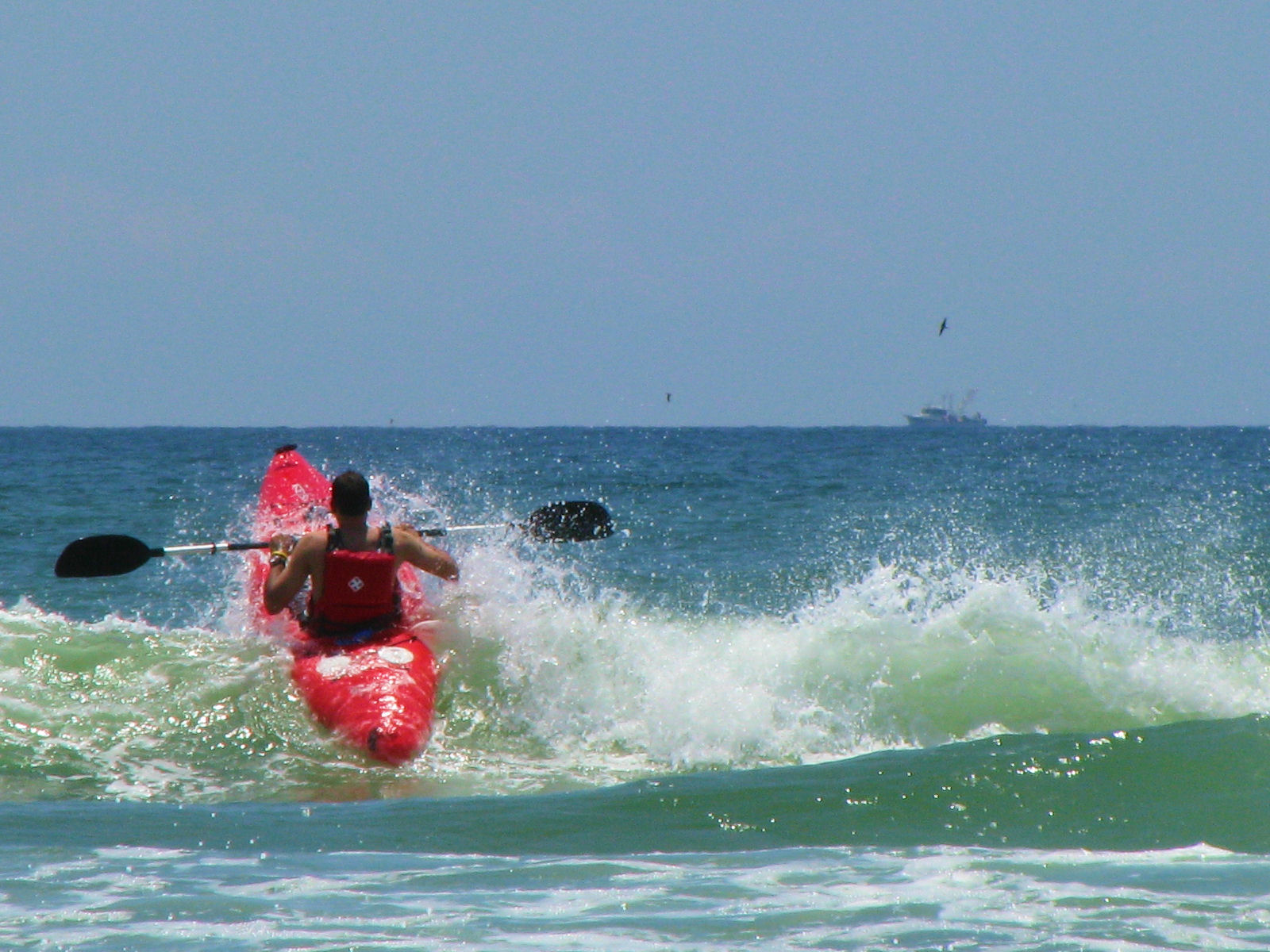 mustang island, mustang island state park, texas, gulf of mexico, sea-kayaking