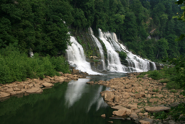 rock island state park, caney fork river, tennessee, waterfall