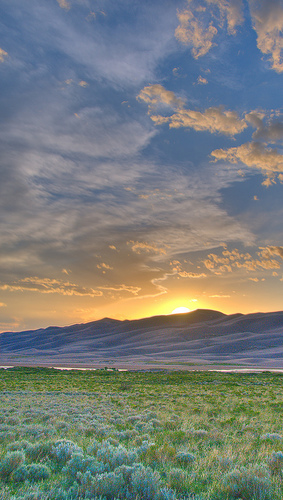 great sand dunes national park and preserve, colorado, sunset