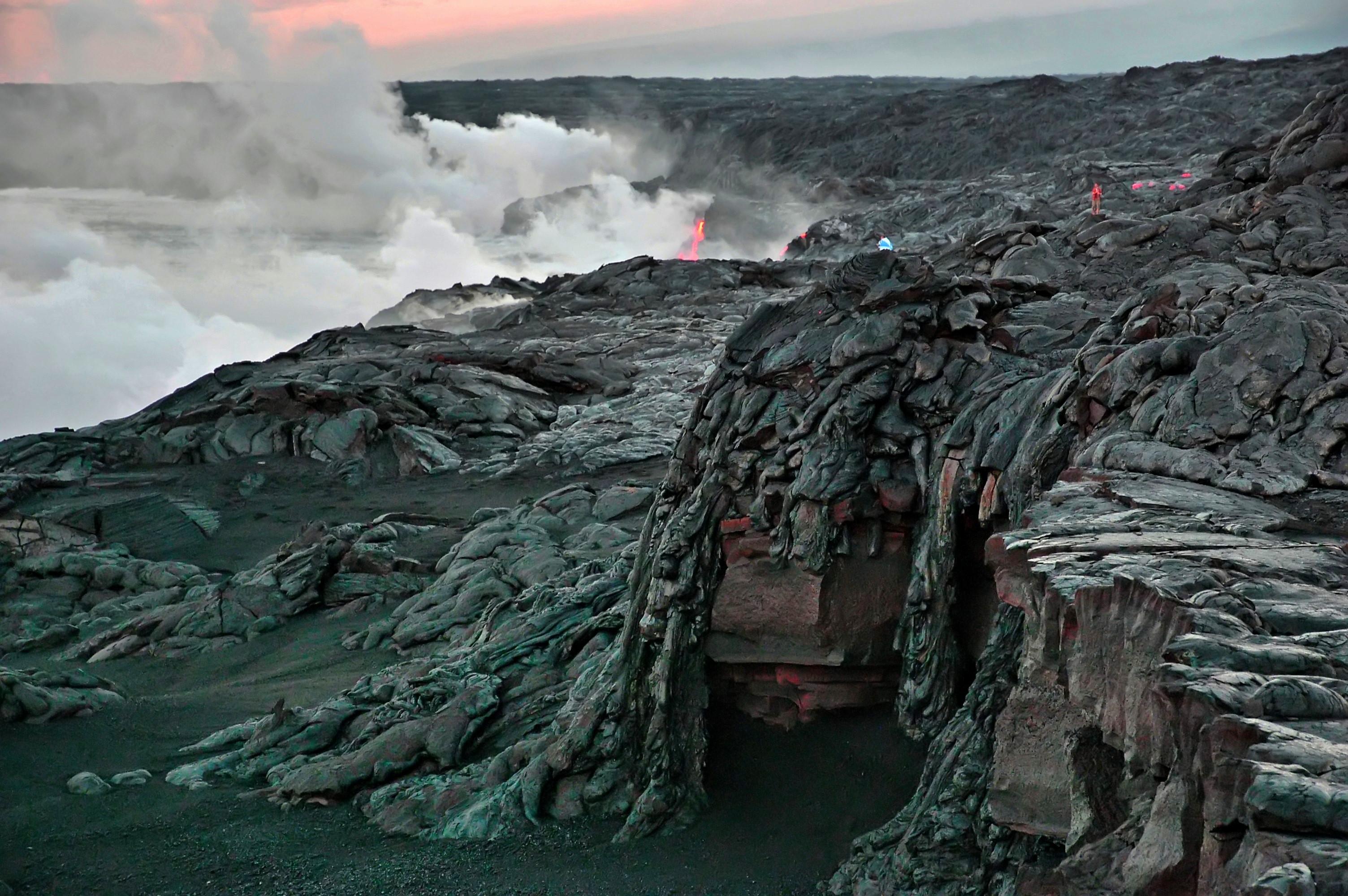 volcanoes national park, hawaii, volcano, steam