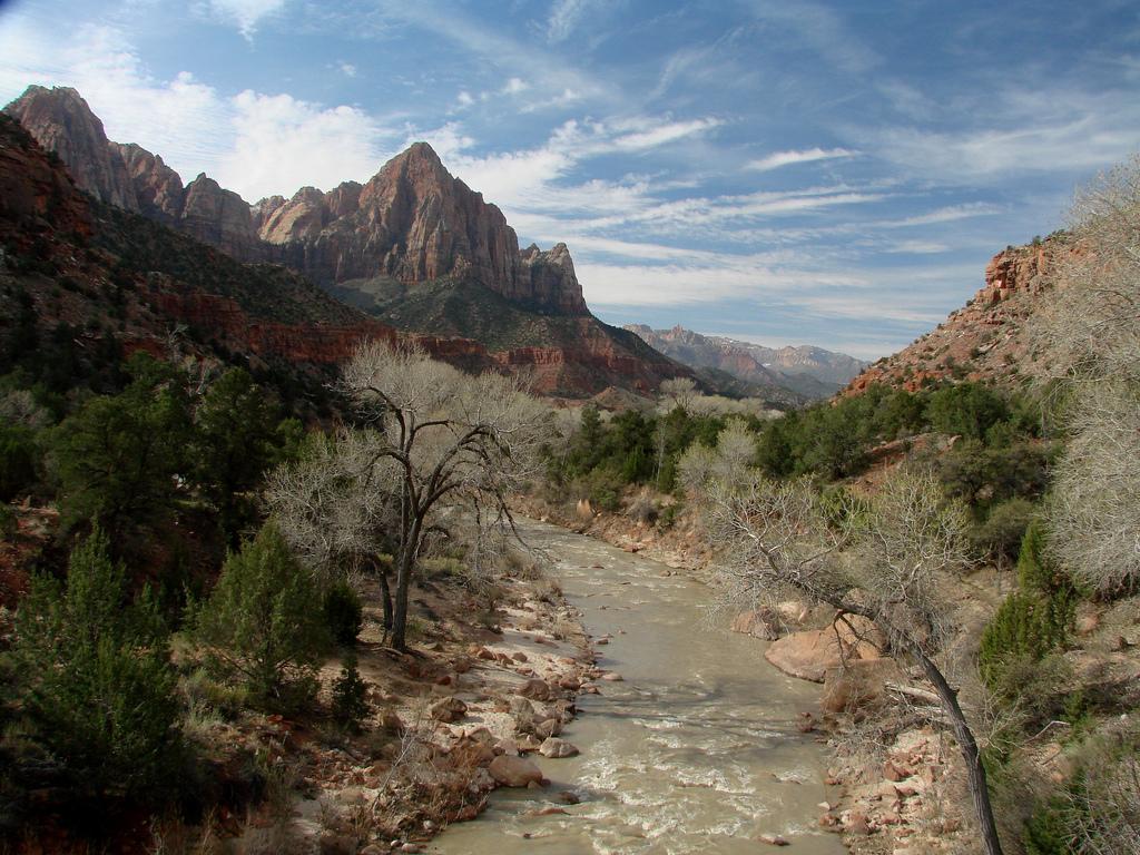 Zion National Park, Zion, Utah, watchman, virgin river