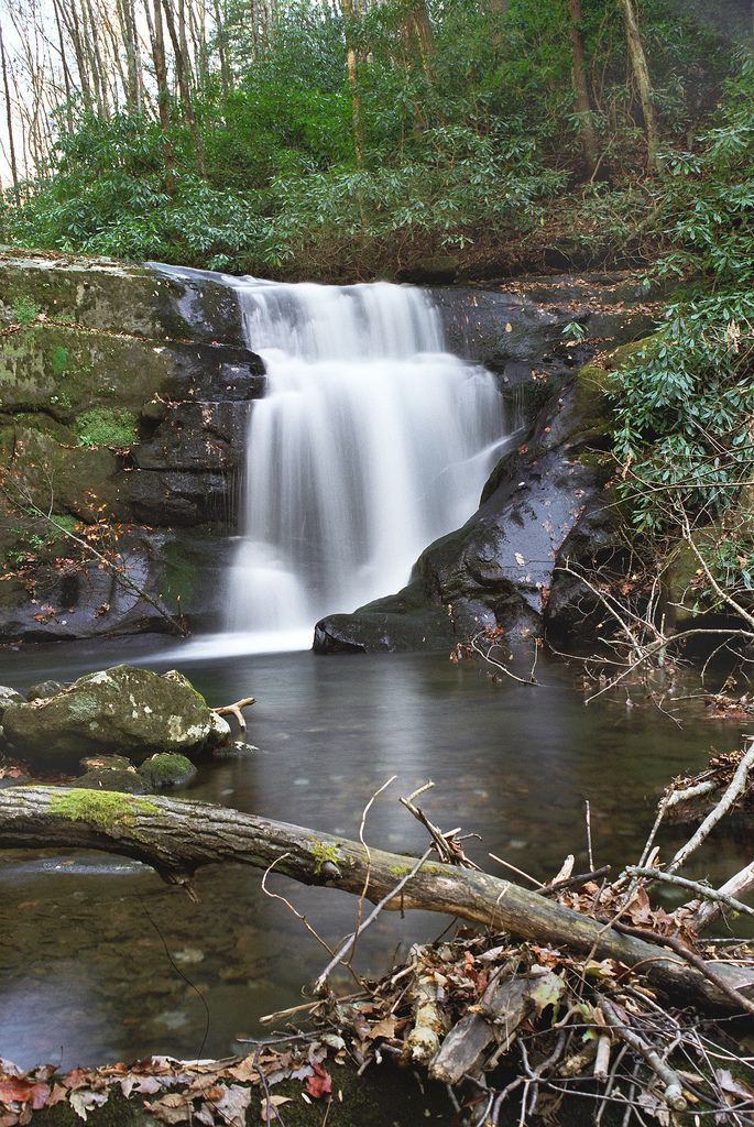 waterfall, cherokee national forest, tennessee