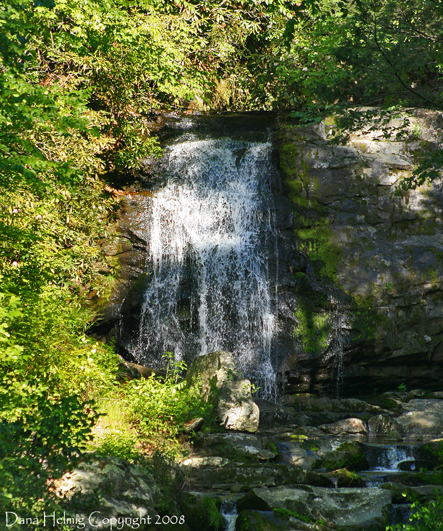waterfall, great smoky mountains national park