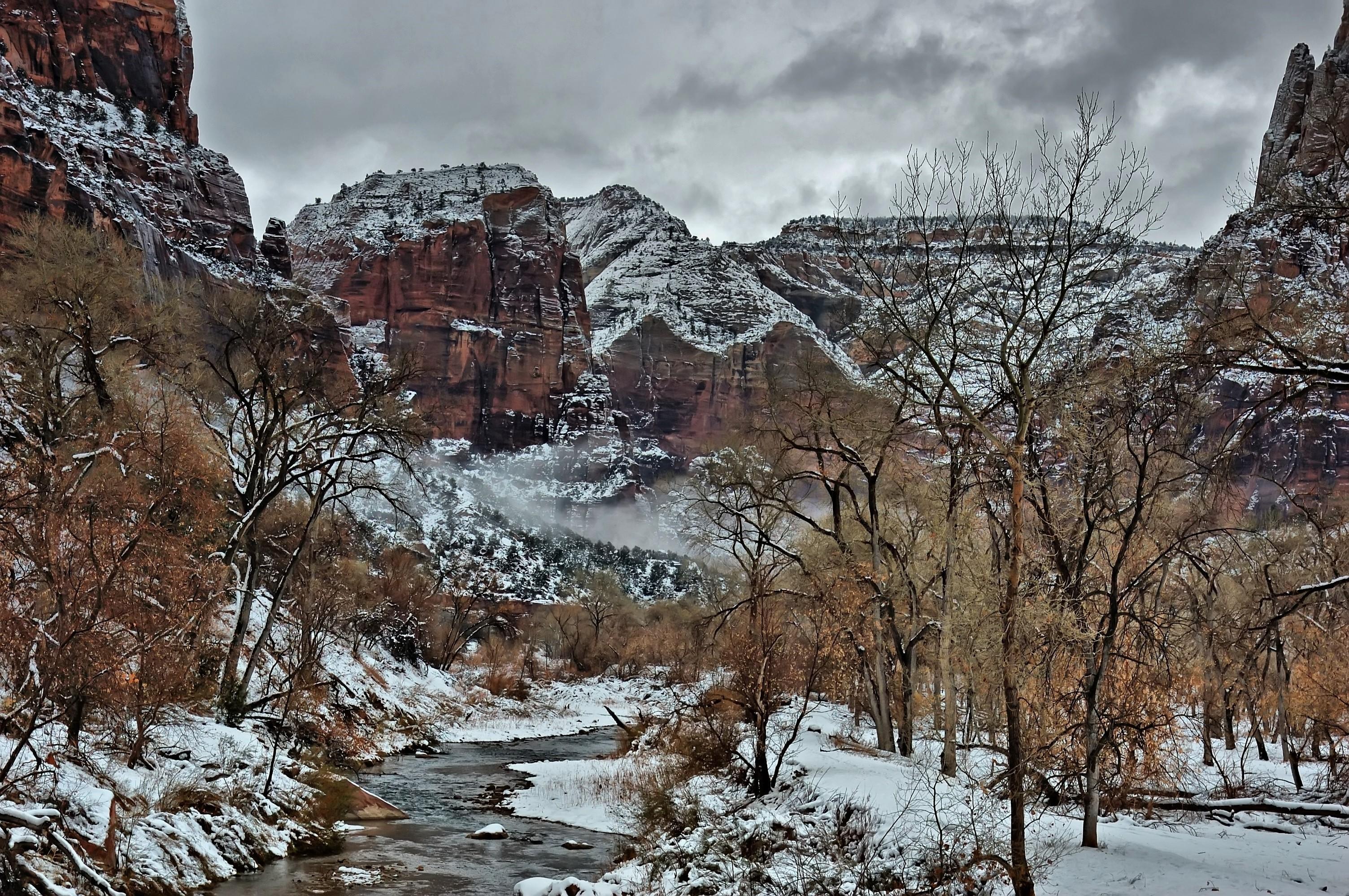 Zion National Park, Zion, Utah, winter